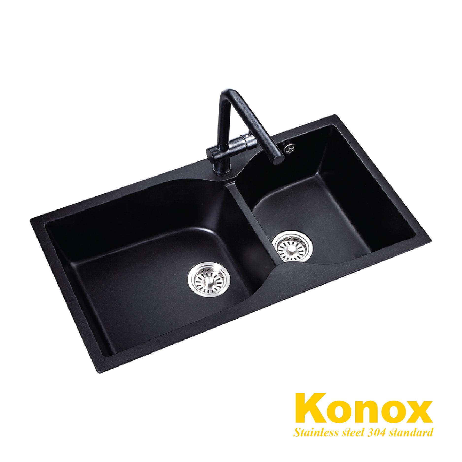 Chậu rửa bát đá Granite Konox KN8848G-B